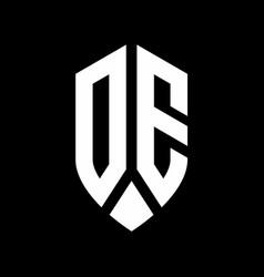 de logo monogram with emblem shield style design vector image