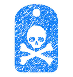 Death sticker grunge icon vector