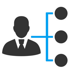 Distribution manager flat icon vector