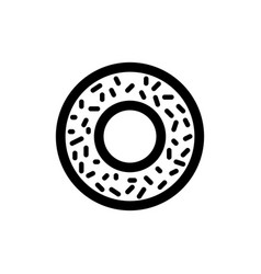 Donut icon food vector