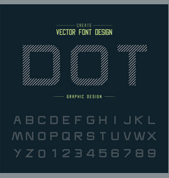 dotted font and alphabet design typeface letter vector image