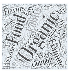 Easy Ways to Make the Switch to Organic Foods Word vector image
