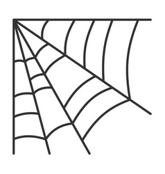 editable stroke spiderweb halloween thin line icon vector image