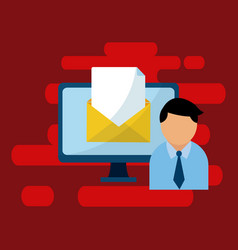 Email and media marketing vector