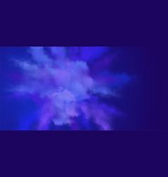Explosion of blue powder vector