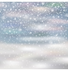 falling christmas decoration snow isolated on vector image