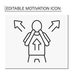 Fear motivation line icon vector