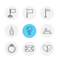 Flags hearts camera favourite flag eps icons vector