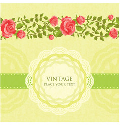 floral retro card vector image