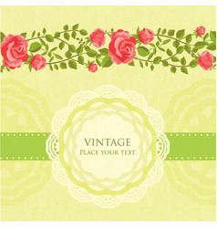 floral retro card vector image