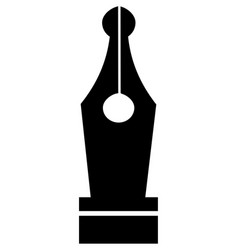 fountain pen nib icon symbol vector image