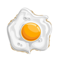 Fried shiny chicken egg vector