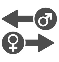 Gender exchange flat icon vector