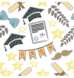Graduation scandinavian hand drawn style paper vector