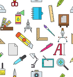 Graphic design colorful pattern icons vector image