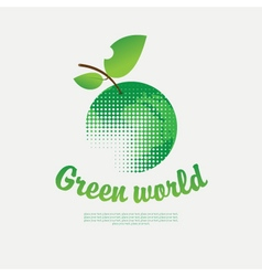 green world vector image
