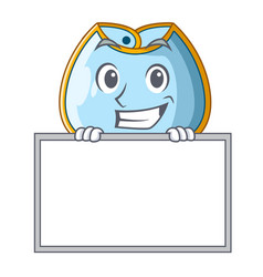 grinning with board character baby bib for feeding vector image