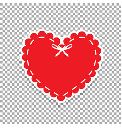 heart seal stamp for scrapbooking design vector image