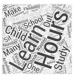 homeschooling hours dlvy nicheblowercom Word Cloud vector image