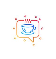 Hot coffee line icon tea drink sign vector