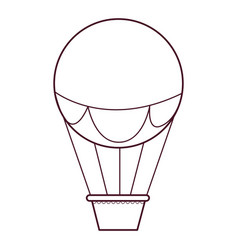 Isolated hot air balloon icon design vector