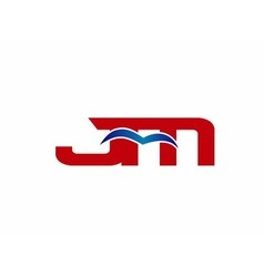 JM Logo Graphic Branding Letter Element vector image