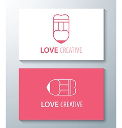 Love creative vector image