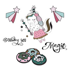 magical time card set card label and poster for vector image