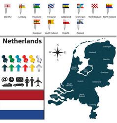 Map of netherlands vector