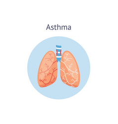 medical icon human asthma with lungs vector image