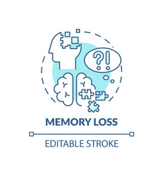 Memory loss turquoise concept icon vector