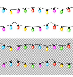 multicolored garlands vector image