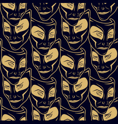 New pattern 0211 theatrical mask vector