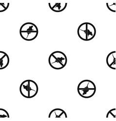 No rats sign pattern seamless black vector