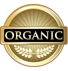 orgnic gold label vector image