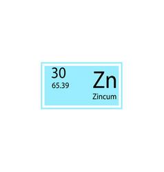 periodic table element zincum icon element of vector image