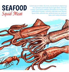 poster for seafood or fish food market vector image