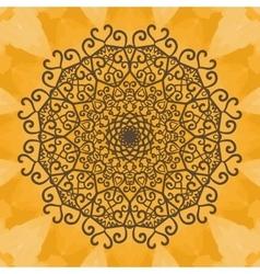 Print Mandala background Vintage decorative vector image