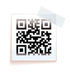 QR paper tag vector