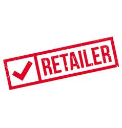 Retailer rubber stamp vector