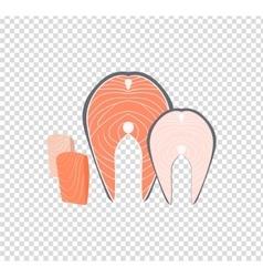 Salmon Steak Flat Design vector