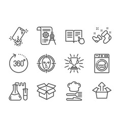 Set business icons such as send box trophy vector