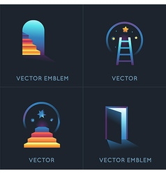 set of abstract concepts and logo design elements vector image