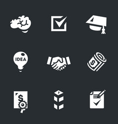 Set of contract job icons vector