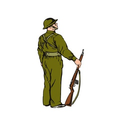 Soldier on Guard vector image