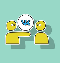 sticker vkontakte icon on background vector image