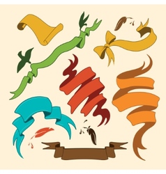 Styled Ribbons Collection vector