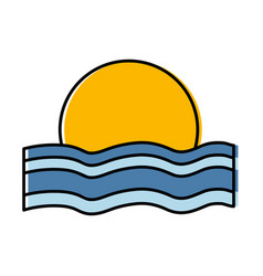 Sunset icon image vector
