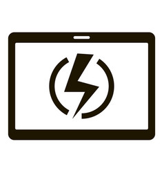 super charge tablet icon simple style vector image