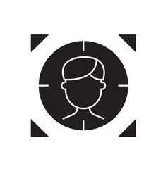 target person black concept icon target vector image
